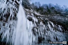 Frozen Peričnik waterfalls /2