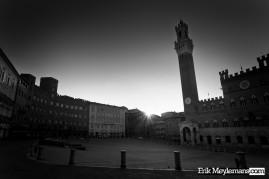 Sunrise at Piazza del Campo, Siena.