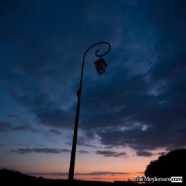 Unlit lamp post