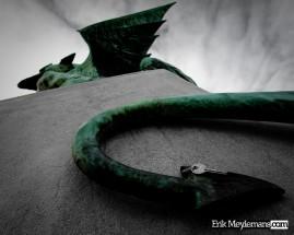 Dragon tail key ring